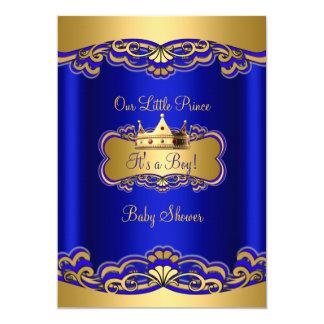 Coroa do ouro dos azuis marinhos do chá de fraldas