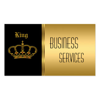 Coroa do preto do ouro do cartão de visita