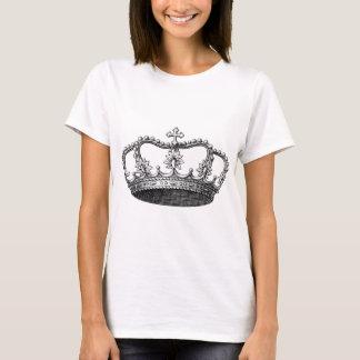 Coroa do vintage preto e branco tshirt