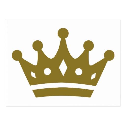 Coroa dourada cartões postais