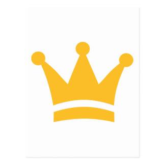 Coroa dourada cartoes postais
