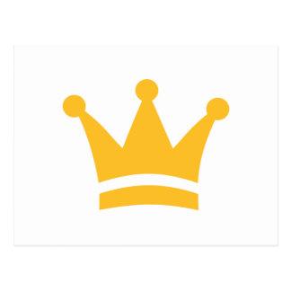 Coroa dourada cartao postal