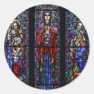 Coroação da arte do vitral de Mary Adesivo