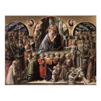 Coroação de Filippo Lippi- do Virgin Cartao Postal