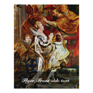 Coroação de Maria De Medici em St Denis dentro Panfleto