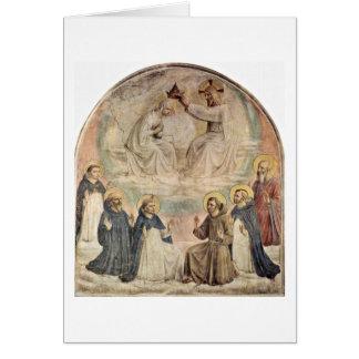 Coroação do Virgin por Fra Angelico Cartão