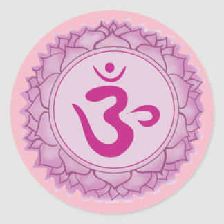 Coroe a etiqueta redonda clássica do chakra