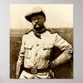 Coronel Theodore Roosevelt Pôster