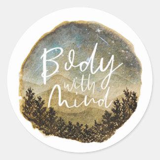 Corpo com etiquetas da mente