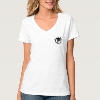 Corpo das mulheres pessoais do treinamento de camiseta