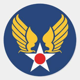 Corpo de ar do exército adesivos