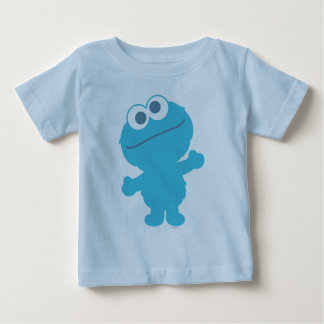Corpo do bebê do monstro do biscoito camiseta para bebê