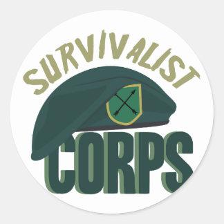 Corpo do Survivalist Adesivo