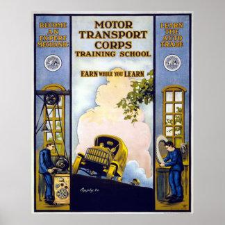 Corpo do transporte de motor poster