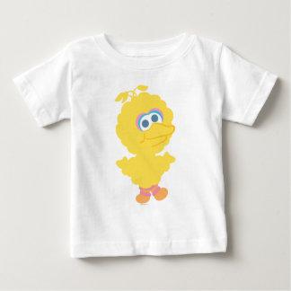 Corpo grande do bebê do pássaro camiseta para bebê