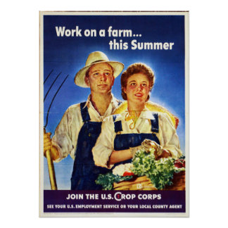 Corpo WW2 da colheita dos E.U. do trabalho da Pôster