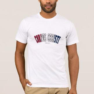 Corpus Christi em cores da bandeira do estado de Camiseta