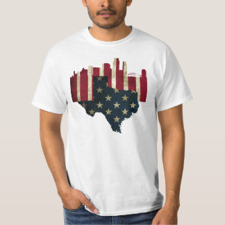 Corpus Christi, skyline da bandeira de Texas Camisetas