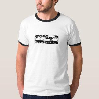 Corpus Christi, t-shirt branco/preto de TX- da