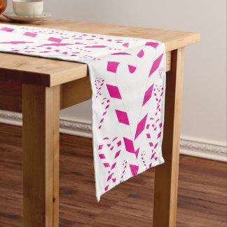 Corredor cor-de-rosa da mesa do bastão de doces do caminho de mesa pequeno