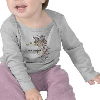 Corredor da menina do aniversário BD-001 T-shirts