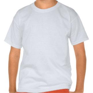 Corredor da menina; Escarlate das listras do Tshirt