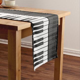 Corredor da mesa do design do teclado de piano caminho de mesa pequeno