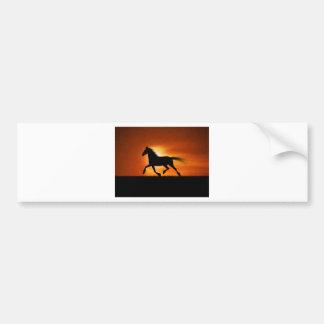 Corredor do cavalo adesivo para carro