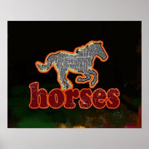 corredor do cavalo - cavalos posteres