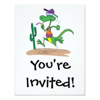 corredor engraçado nos desenhos animados do convites personalizados