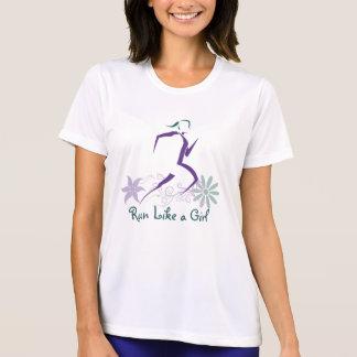 Corredor fêmea - funcione como uma menina camisetas