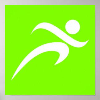 Corredor verde Chartreuse, de néon Poster