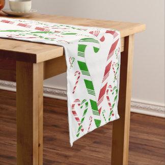 Corredor vermelho & verde do Natal de doces do Caminho De Mesa Pequeno