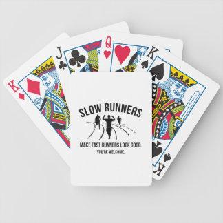 Corredores lentos cartas de baralho