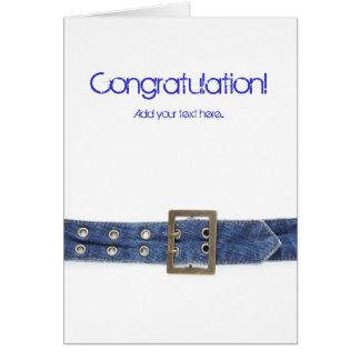 Correia de jeans cartão comemorativo
