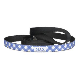 Correia Trela personalizada do cão dos azuis marinhos