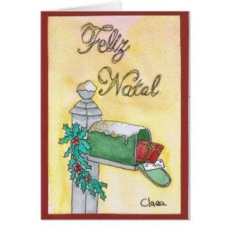 Correio de Natal / Christmas mail Cartão Comemorativo