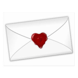 Correio do amor cartão postal