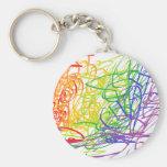 Corrente chave da arte moderna multicolorido chaveiros