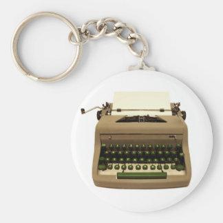 Corrente chave da máquina de escrever do vintage chaveiros