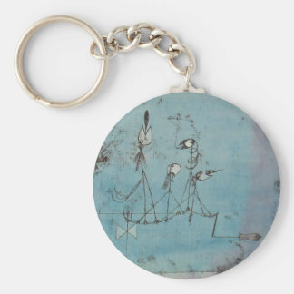 Corrente chave da máquina de Paul Klee Twittering Chaveiro