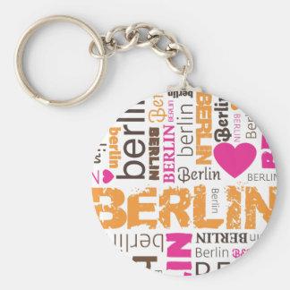 Corrente chave da tipografia alemão de Berlim Chaveiro