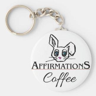 Corrente chave do café das afirmações chaveiro