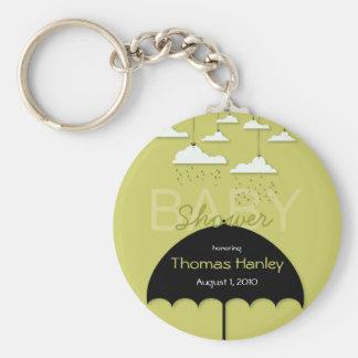 Corrente chave do chá de fraldas do guarda-chuva chaveiro