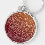 Corrente chave do estilo árabe oriental do henna chaveiros