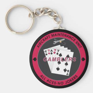 Corrente chave do jogador AMU com preto vermelho d Chaveiro