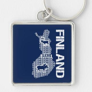 Corrente chave do MAPA customizável de FINLANDIA Chaveiros
