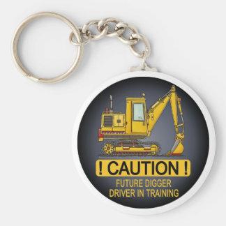 Corrente chave do motorista futuro da pá do escava chaveiro