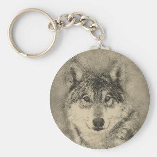 Corrente chave feita sob encomenda bonita de lobo chaveiro