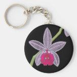 Corrente chave feita sob encomenda da flor preta l chaveiro